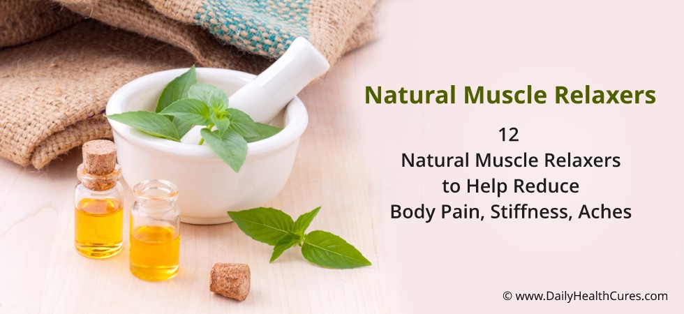 Natural Muscle Relaxer Foods